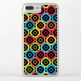 Seamless Floral Pattern X Clear iPhone Case