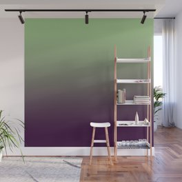 Modern mint green purple ombre pattern Wall Mural