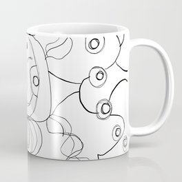 Only The Ghouls Come Out At Night Line Art Coffee Mug