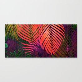 COLORFUL TROPICAL LEAVES no8 Canvas Print