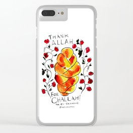 Thank Allah for Challah Clear iPhone Case