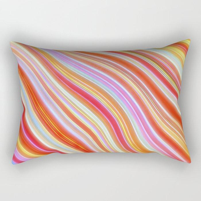 Wild Wavy Lines 23 Rectangular Pillow