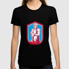 Blacksmith Worker Sledgehammer Retro T-shirt