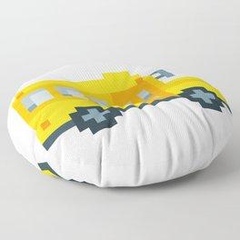 Pixel School Bus Floor Pillow