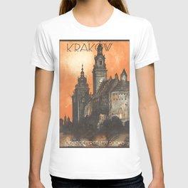 Krakow 01 - Vintage Poster T-shirt