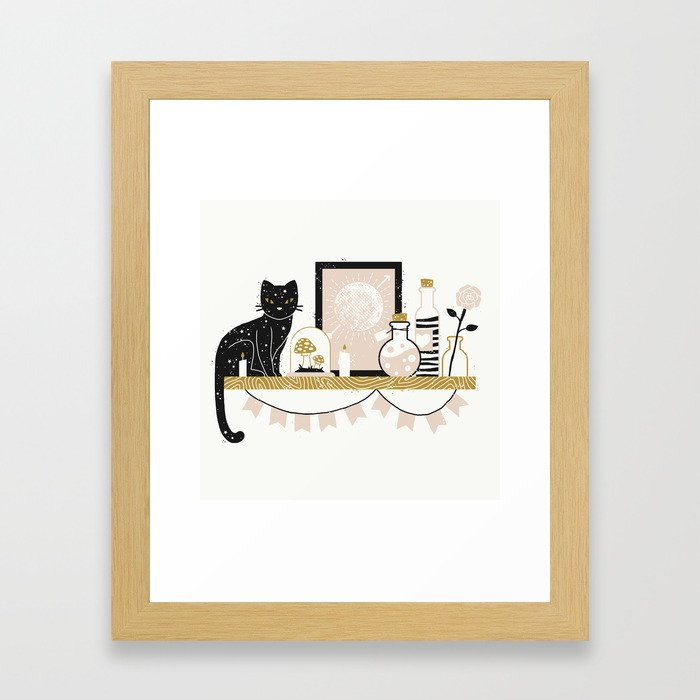 Magical Little Shelf Framed Art Print