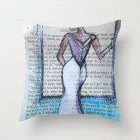 dress Throw Pillows featuring Dress by Sarah Ridings