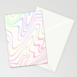 Rainbow holo abstract pastel Stationery Cards