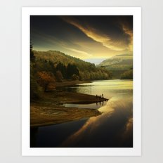 Derwent Sunset Art Print