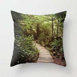 trail to Cape Flattery Throw Pillow