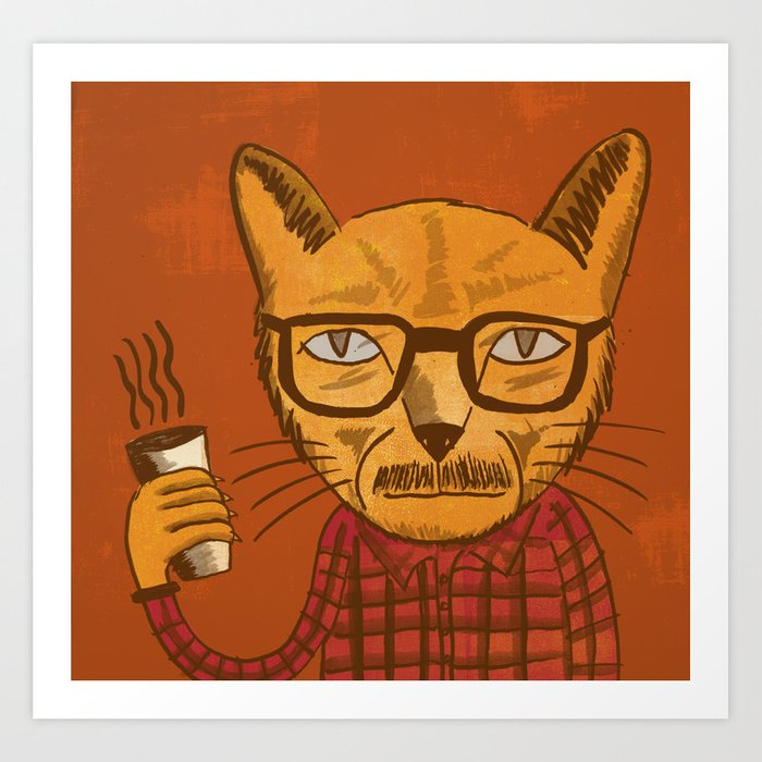 Working with designers is like herding cats Art Print
