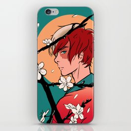 Todoroki and Cherry Blossoms iPhone Skin