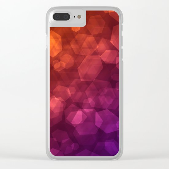 Abstraction . Red purple pattern . Clear iPhone Case