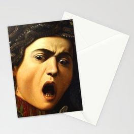 Medusa by Carvaggio detail Stationery Cards