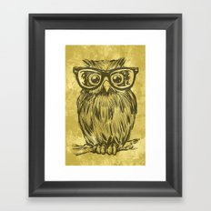 Spectacle Owl Framed Art Print
