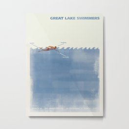 Great Lake Swimmers Gig Poster Metal Print
