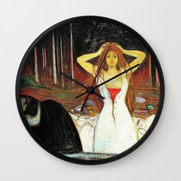 Edvard Munch - Ashes - Digital Remastered Edition Wall Clock