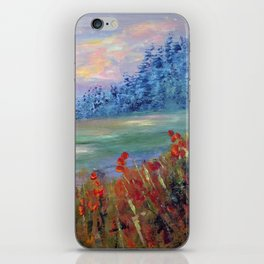 Abstract Landscape Painting, Between Dimensions, Modern Home decor iPhone Skin