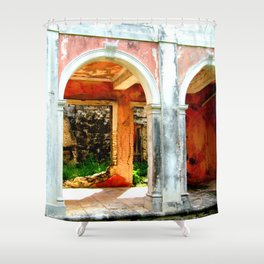 Haunted Harbour Island House Shower Curtain