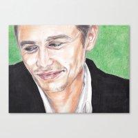 james franco Canvas Prints featuring James Franco  by Kelley