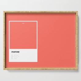Not Pantone Collection #FF7062 Living Coral Serving Tray
