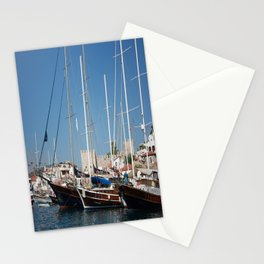 Traditional Turkish Gulets In Marmaris Harbour Stationery Cards