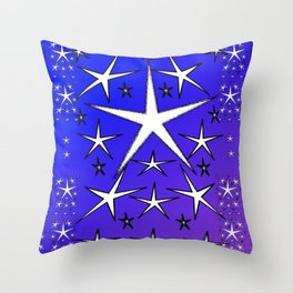 Allthesestarspurpblu Throw Pillow
