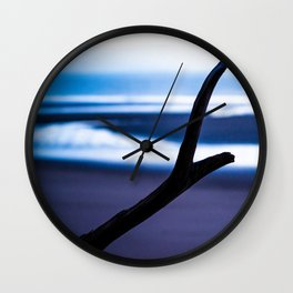 Blacks Beach Blues Wall Clock