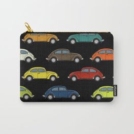 Little Beetle Pattern black Carry-All Pouch
