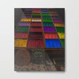 The Colors of Kathmandu City 02 Metal Print