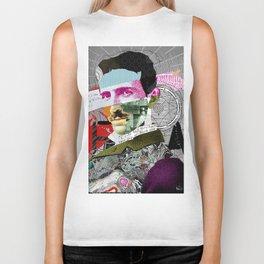 Nikola Portrait Collage Art Biker Tank