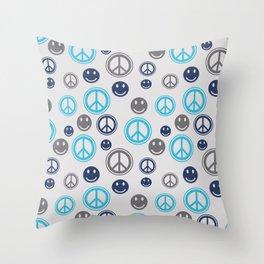 Peace Smile Throw Pillow