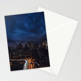 The City Never Sleeps Stationery Cards