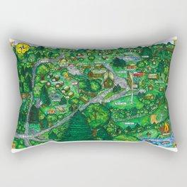 Camp Downer Map Rectangular Pillow