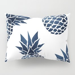 Pineapple Blue Denim Pillow Sham