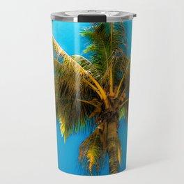 Sunlight Strikes the Coconut Palm Travel Mug