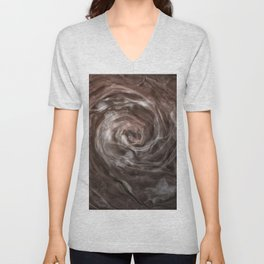 Coffee and cream swirl Unisex V-Neck