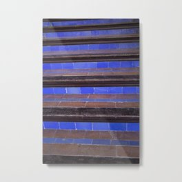 Blue Staircase Metal Print