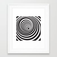 vertigo Framed Art Prints featuring Vertigo by General Design Studio