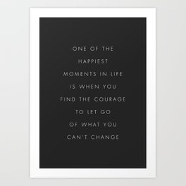 One Of The Happiest Moments In Life Art Print