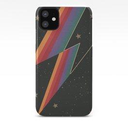 Lightening Bolt, Bowie, Cosmic Art iPhone Case