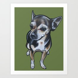 Artie the Chihuahua Art Print