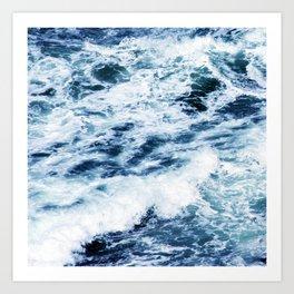 Ocean Waves: A Power Greater Than Me Art Print
