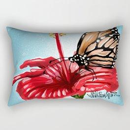 Butterfly on flower 2 Rectangular Pillow