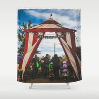 welcome Shower Curtains featuring Welcome by Chase Jackson