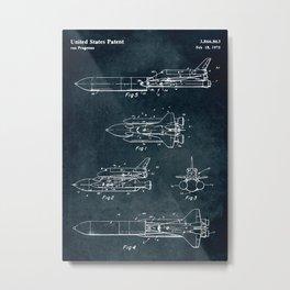 Space separated ship Metal Print