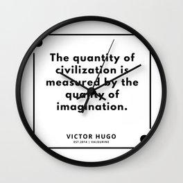 94     Victor Hugo Quotes   190830 Wall Clock