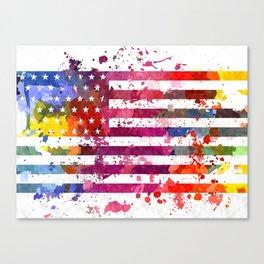 Splash US Flag Canvas Print