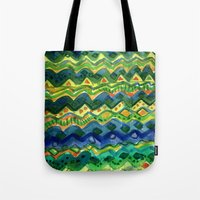 green pattern Tote Bags featuring Green pattern by Nato Gomes