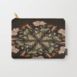 Flemish Floral Mandala 3 Carry-All Pouch